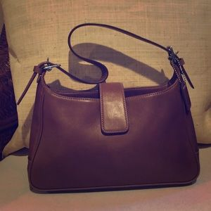 Small coach leather bag brown Authentic